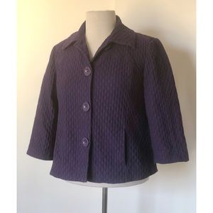 Chico's Textured Purple Jacket  *Chico's Size 0*